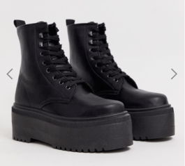 dr martens look a like veterboot plateau asos