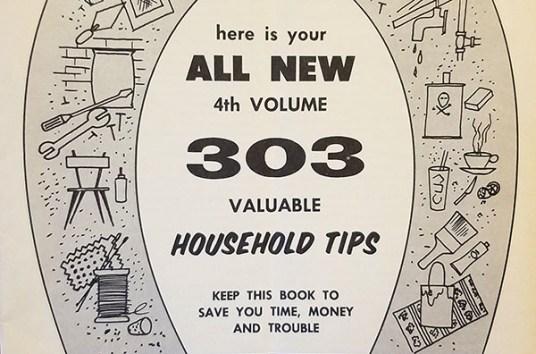 303 valuable household tips