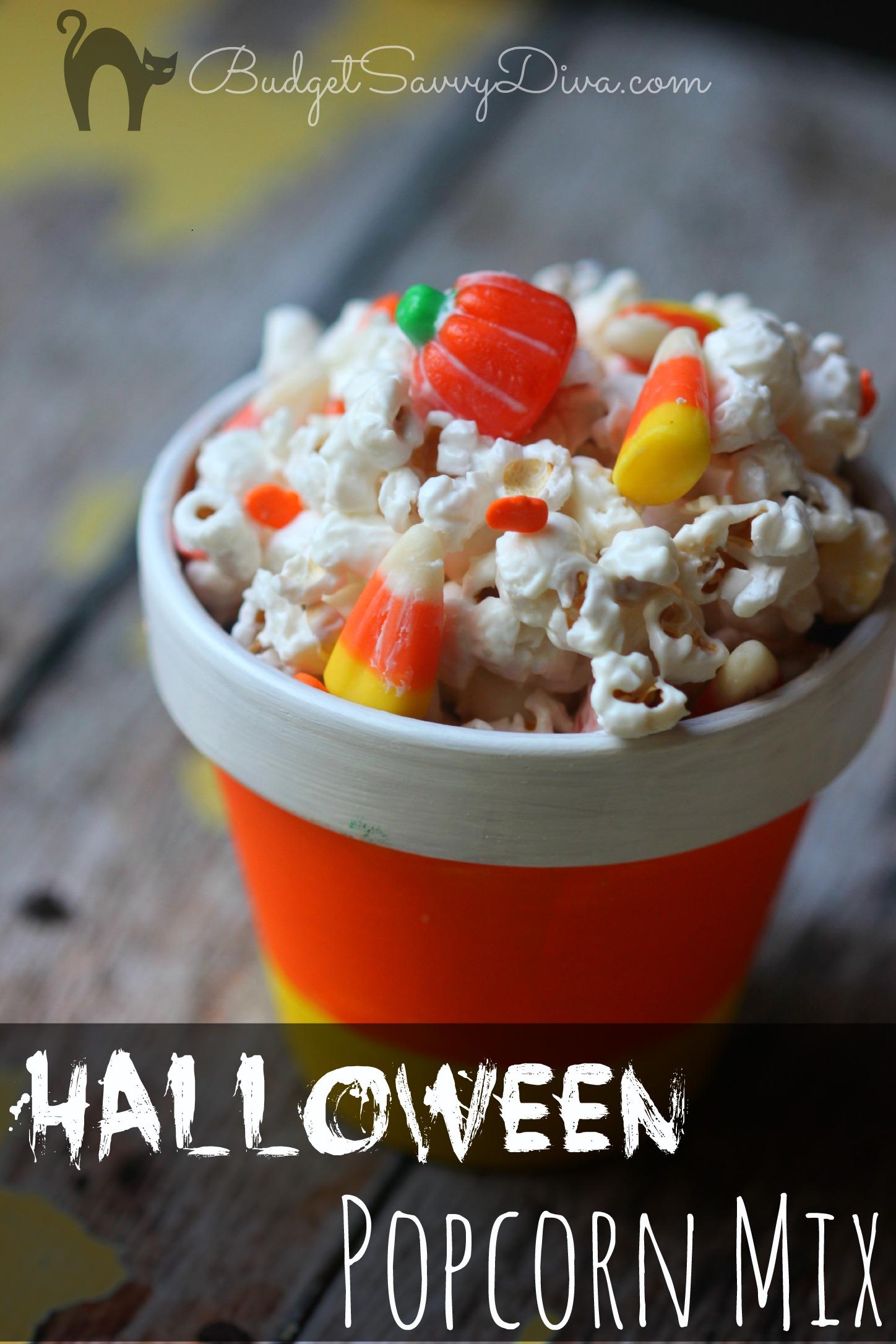Halloween Popcorn Mix Recipe Budget Savvy Diva