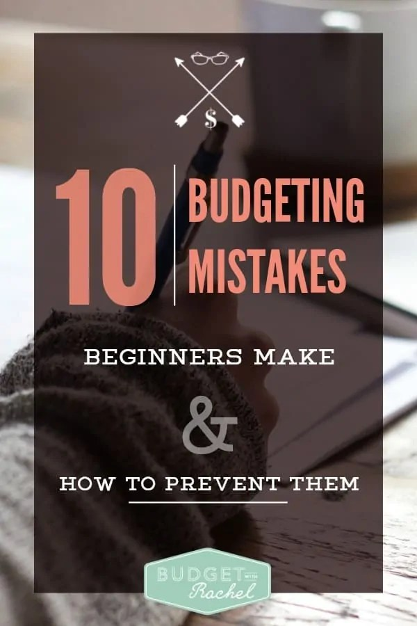 10 Budgeting Mistakes Beginners Make. I'm pretty sure I have done every one of these things! This is all so true. Budgeting can be hard when it is new and you these are the most common mistakes I made too. Love this advice and can't wait to learn from this to only get better.
