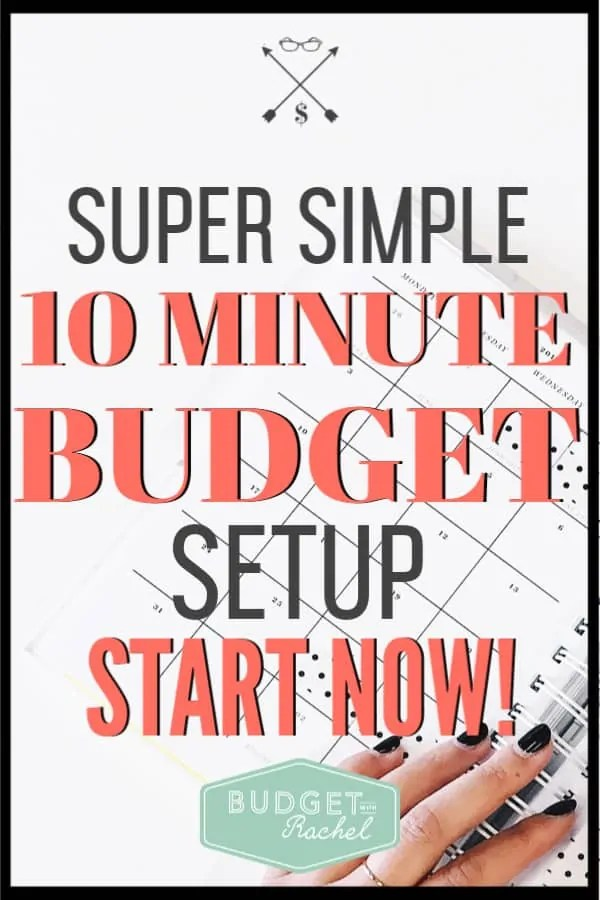 I was dreading setting up my budget for so long, and I kept putting it off. Once I did this quick budget set up, my budget was put together and working! It was so much easier to do than I thought it would be. #budget #budgettips #savemoney