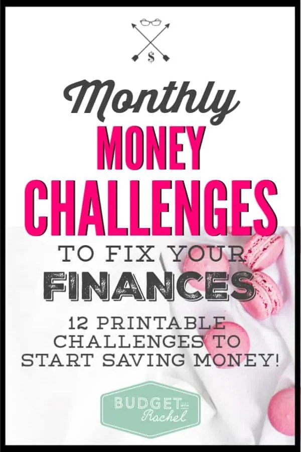I love this so much! One challenge a month that improves my finances. It's amazing. I have started saving so much money with each challenge. Some of these are little things that I didn't even realize were costing me so much money. This year of monthly money challenges are little tips and tricks to same money. Love it!