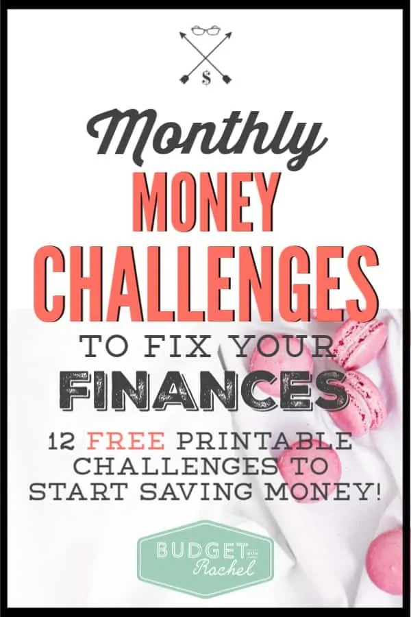 Ready for a money reboot in the new year? Use these once a month challenges to help you save tons of money this year! These money saving tips are easy to implement when you just work through one a month. You will be shocked at how much money you will save! #savemoney #moneysavingtips #freeprintables #newyear