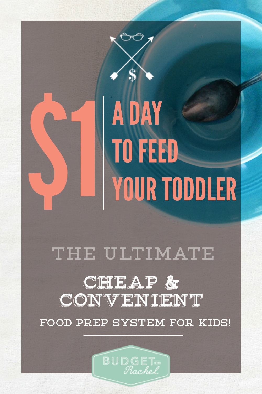 Feed Your Toddler For $1Day. The Ultimate Cheap and Convenient Food Prep System For Kids! OMG! This has been life changing! I used to struggle to come up with what food to pack for my daughter for the sitter. Not anymore! This system is so simple, cheap and convenient. I can't believe I didn't think of this myself! I love how the meals are organized so they are completely balanced.
