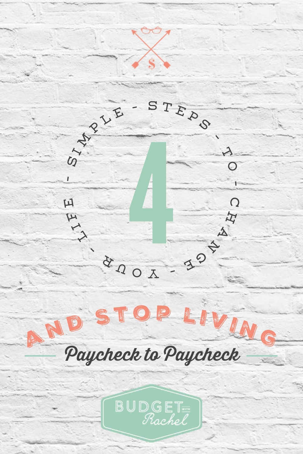 4 Steps to Save One Month's Income and Stop Living Paycheck to Paycheck. This is the best advice I have ever been given! Once we implemented these steps, we never worried about running out of money at the end of the month. These steps are so simple! I wish I would have done this years ago and saved myself so many headaches!