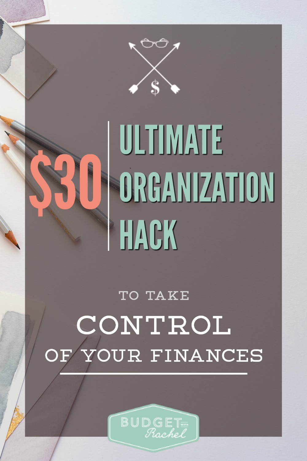 Organize Your Financial Life for $30 or Less  A Step-by-Step Guide to Creating the Ultimate Filing System That Makes Sense for Your Life. This system has been life changing! Not only was it super cheap to put together, it only took me a couple of hours to do it! Now I don't have to worry about where to put all my papers; they have a specific file to go to. The container is small enough I can store it inside my desk! Love this!