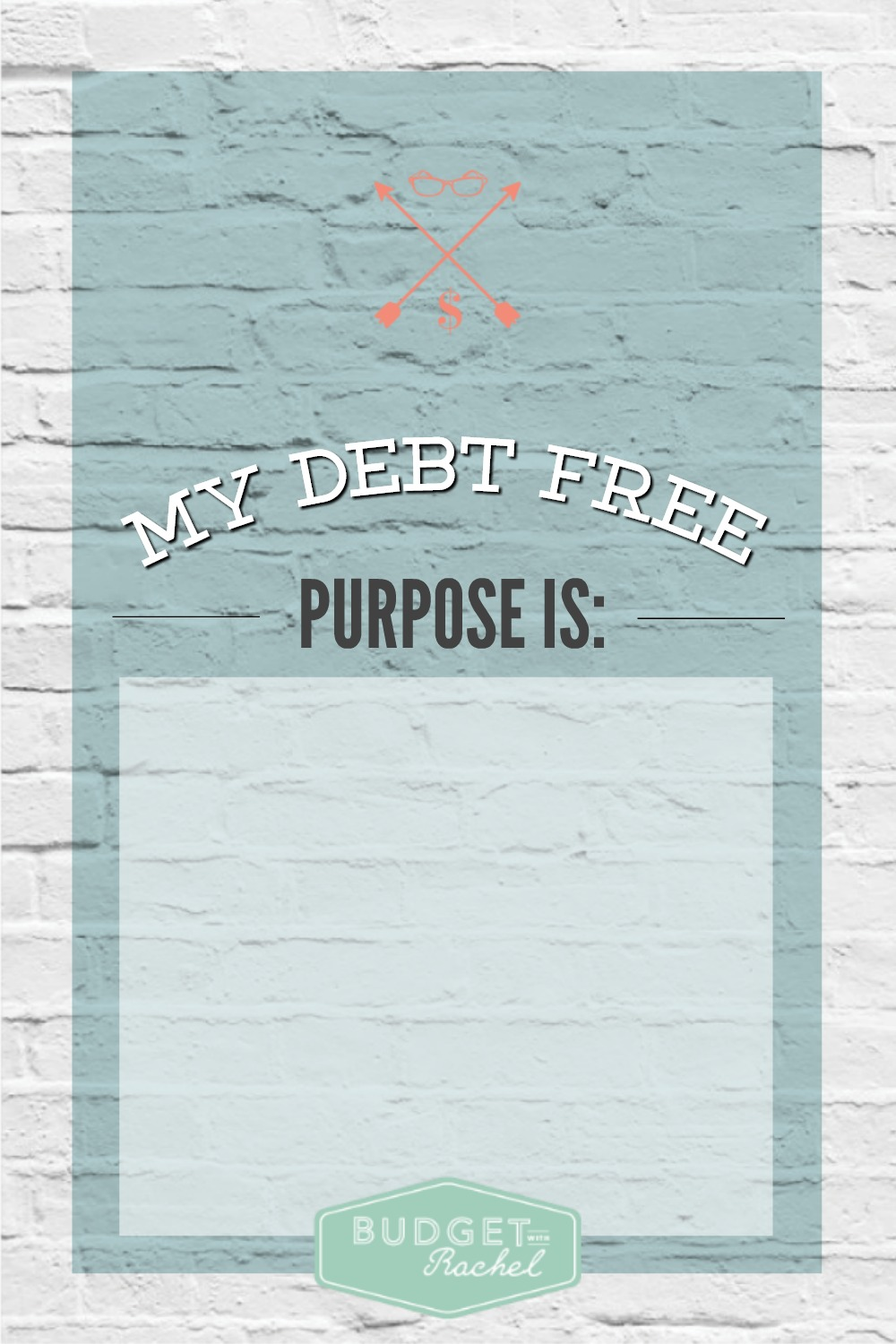 The Importance of Knowing WHY You Want To Be Debt Free Finding Your Debt Free Purpose. I didn't know how important this would be for me, but it has been huge! This has helped me stick with debt payoff because now I know my debt free purpose! I have figured this out and focus on it all the time for the exact reasons listed.