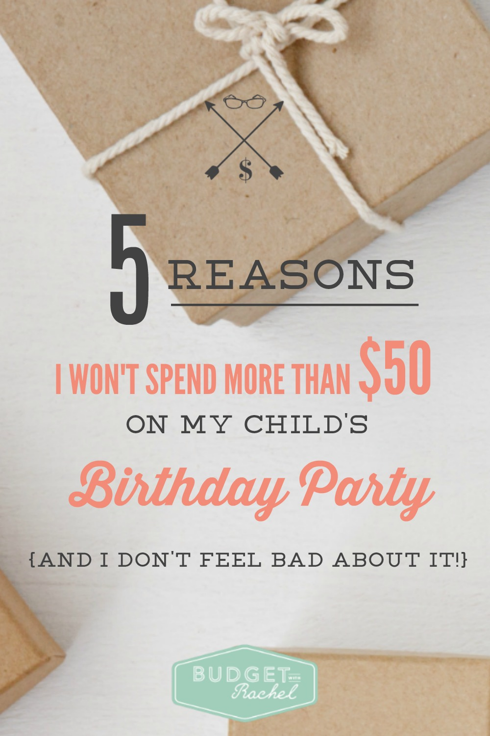 Why I Won't Spend More Than $50 On My Child's Birthday Party (...and I Don't Feel Bad About It!) This made me feel so much better about planning my child's birthday party. #1 was kind of like a punch to the gut, but #5 is definitely my favorite. I am going to keep reading this if I feel stressed about party planning. All of these reasons are so true and I am never spending more than $50 on a birthday party ever again!