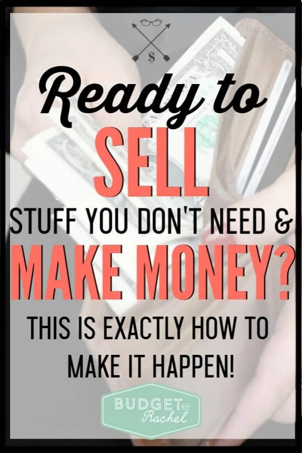 If you are looking for a quick way to make money, you need to be selling your stuff! I have easily made $2,000 selling stuff around my home I haven't used in forever. Start making money by selling your stuff! #makemoney #moneysavingtips #debtpayoff