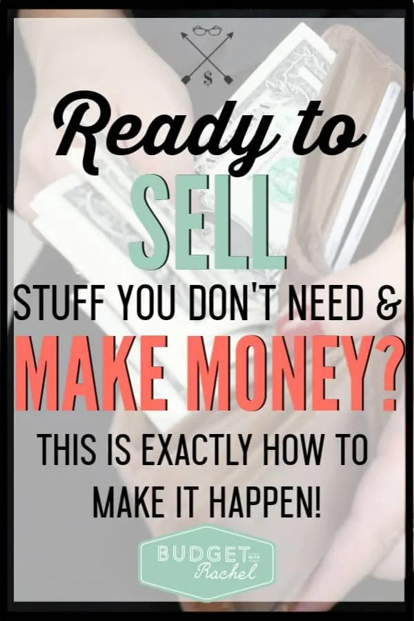 If you have stuff in your home you don't use, you could be looking at extra cash just sitting there! Selling your stuff to make money is super easy if you follow these steps. I have made over $2,000 selling things I don't use anyway. #makemoney #moneysavingtips #savemoney