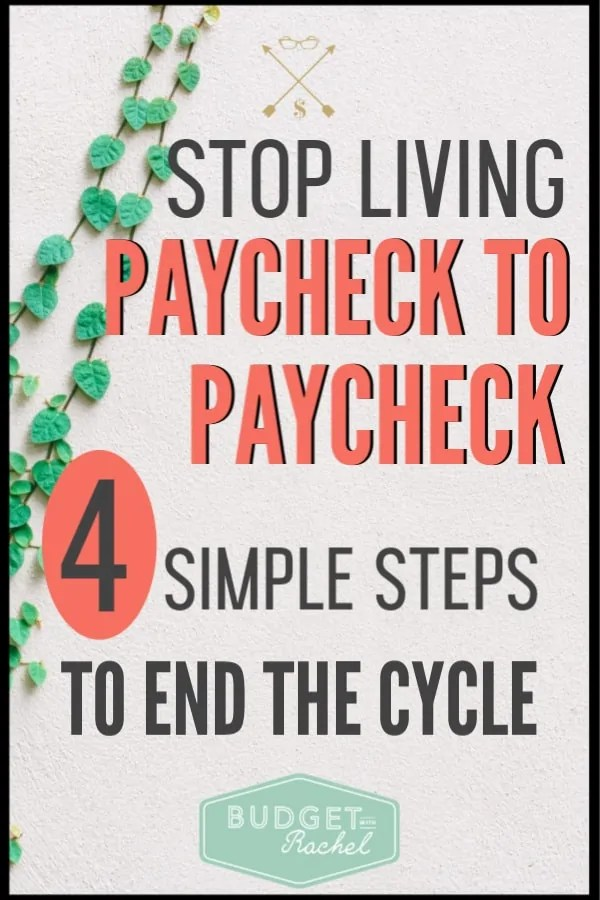 If you are tired of living paycheck to paycheck, this is your answer! These easy finance tips will help you stop living paycheck to paycheck. Eliminate money stress with these simple tips. #budget #financetips #moneysavingtips