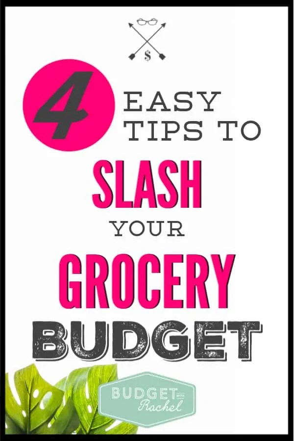 My grocery budget used to be out of control! I was overspending on food every week and didn't know how to fix it. These 4 simple grocery tips are amazing! They have cut my grocery budget in half! The change happened within a week, it was unbelievable! Love these grocery budget tips! #groceries #grocerybudget #savemoney #moneysavingtips #freeprintables