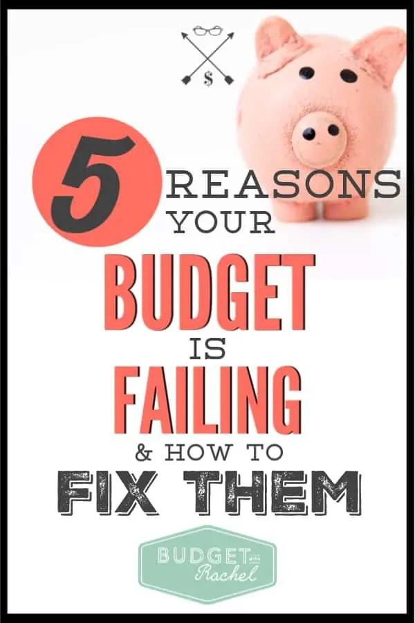 If you are struggling with your budget, these are five common reasons you may be struggling. Find out how to fix these common mistakes to help turn your budget around. These budgeting tips will get you on the right track. #budget #budgettips #freeprintables