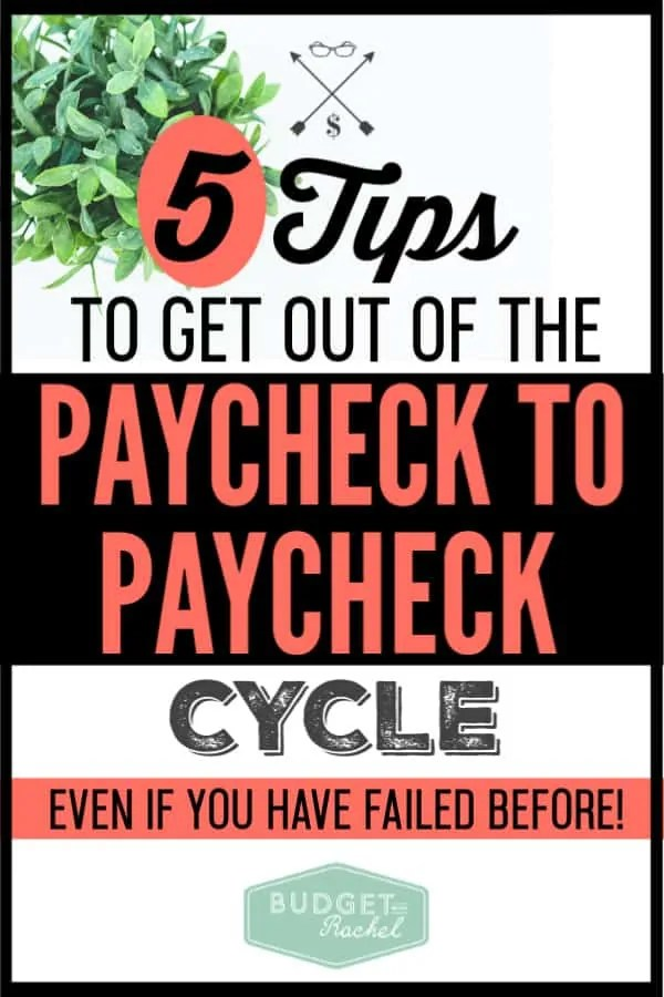 I used to live paycheck to paycheck and was barely making ends meet. Once I started doing these 5 things, I got out of the cycle and actually started to get ahead with my finances. These money management tips helped me finally get control of my money. #budget #budgettips #moneymanagementtips #personalfinance