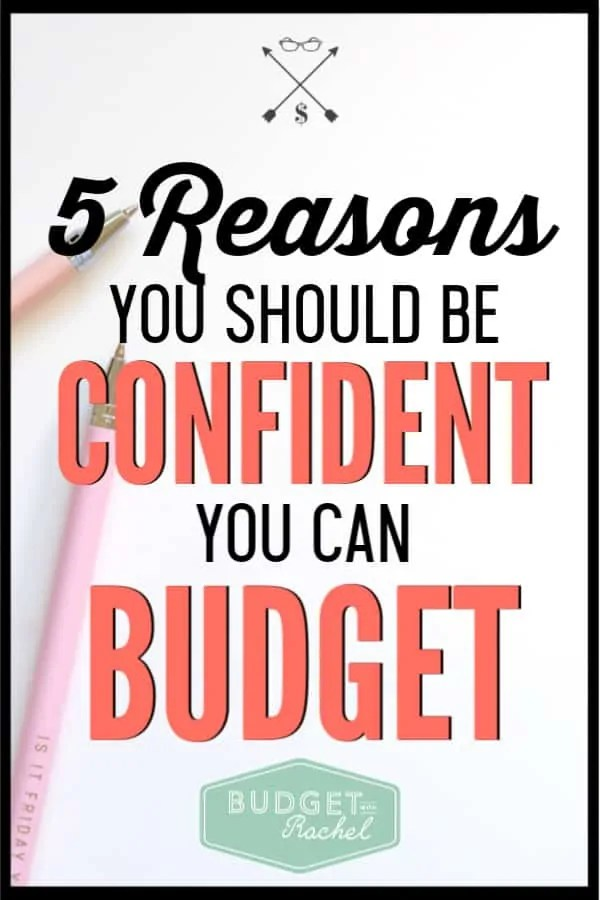 Having a budget doesn't have to be overly complicated. Budgeting is easy and these are 5 reasons why you should believe that! Stop worrying it will be too hard. Use these budget tips to start budgeting like a pro today! #budget #budgettips #personalfinance