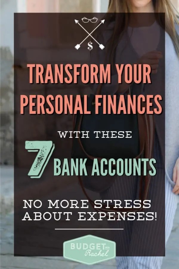 7 Bank accounts to transform your personal finances | take control of your budget with 7 bank accounts | multiple bank accounts for your budget | budget organization | bank accounts to have for your budget | multiple bank accounts | get ahead of your bills with multiple banking accounts #banking #budget #personalfinance #moneymanagement #debtpayoff