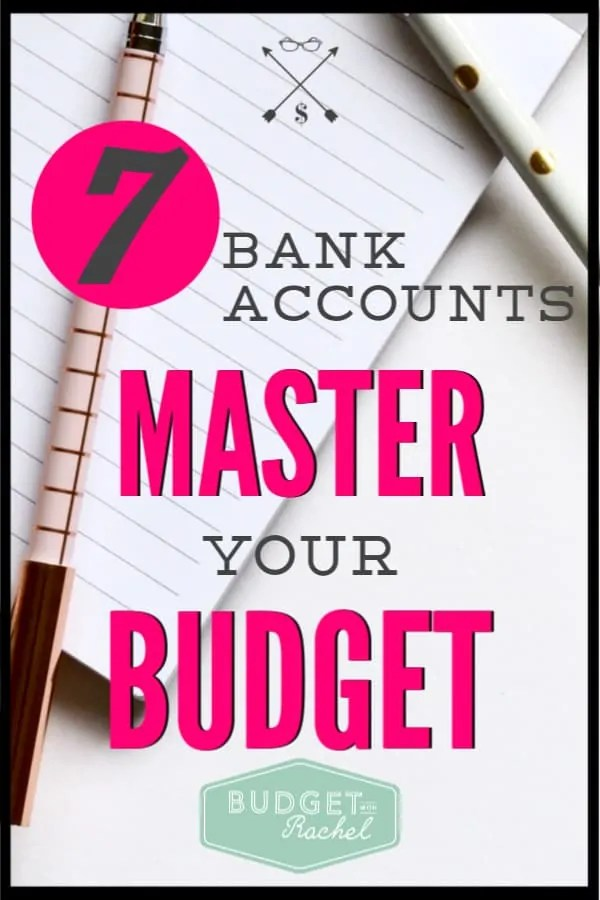 Trying to keep my budget organized used to be really difficult. I had never thought to use multiple bank accounts to keep things organized. This has totally changed my budget and my money management! Now that I am using these 7 bank accounts, my money is super organized and I am sticking to my budget every month! It's amazing! #personalfinance #budget #moneymanagementtips