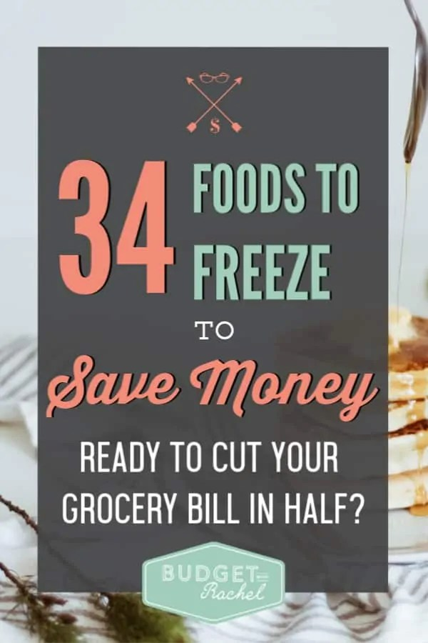 How to freeze food to save money | a list of foods you can freeze to save money | how you should be using a freezer to save money | cut your grocery bill in half when you freeze these foods | guide to freezing food | cut your grocery budget hack | tips and tricks to save money on groceries | save money on food when you freeze these things |save money ideas | save money tips #freezerfood #freezer #mealplanning #grocerybudget #savemoneytips #budget