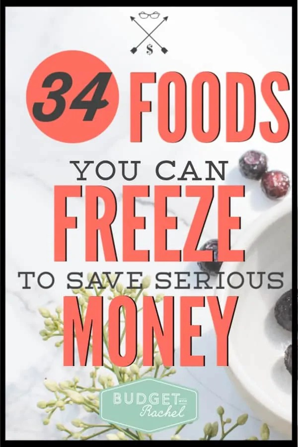 Learn the secret to decreasing your grocery costs and not having to go to the store very often! Freezing foods can cut down on your food expenses in a big way! Check out this list of foods to freeze to save money to get started today! #savemoney #moneysavingtips #budget