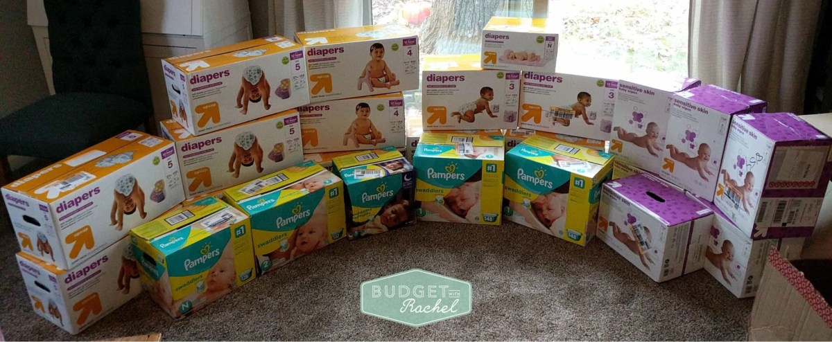 How to Save Money on Diapers: the exact example of the diapers and wipes I purchased for my second child