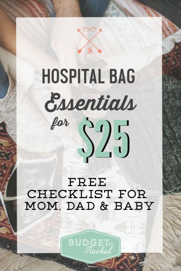 hospital bag checklist | hospital bags on a budget | baby on a budget | hospital bag #hospitalbag #hospitalbagchecklist #budget #budgeting #savemoneytips