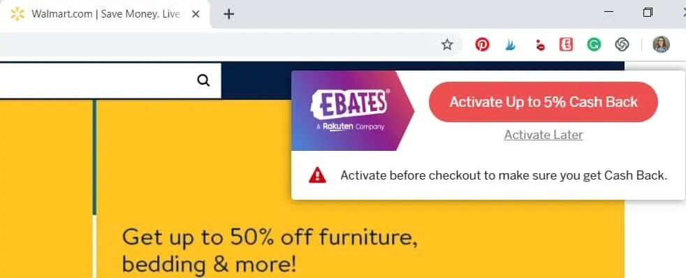 ebates web browser extension