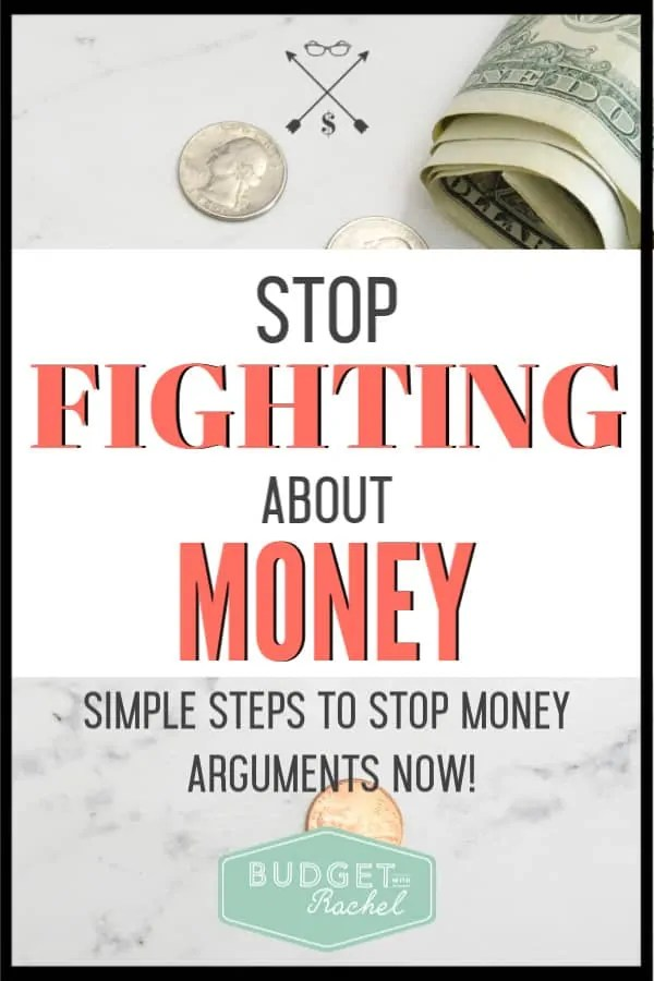 Money is one of the biggest things couples fight about. Learn these simple strategies to never fight with your spouse about money again. A family budget meeting will be a gamechanger for your finances and your relationship! Just follow these simple steps. #budget #budgettips #freeprintables