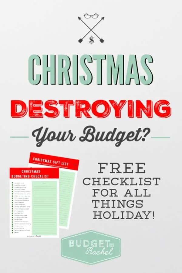 Plan for Christmas on a Budget | Christmas on a budget free printables | Christmas on a budget saving money | save money for Christmas | Checklist for Christmas on a budget | free printable #budget #Christmas #savemoney #budgetingtips #freeprintable