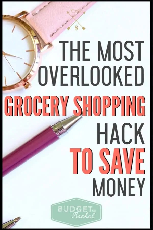 Want to save money on groceries? This is the most overlooked grocery shopping secret to help you save tons of money on food. Since doing this one thing, my grocery budget was cut in half! #savemoney #moneysavingtips #budgettips