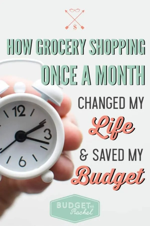 Start grocery shopping once a month to take back your sanity! | includes menu planning | grocery shopping once a month budget | grocery shopping once a month ideas and tips | 4 reasons you should be shopping for groceries once a month | why you should grocery shop once a month #groceryshopping #mealplan #mealplanning #grocerybudget #moneysavingtips #freeprintables
