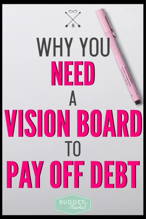 I had totally lost debt payoff motivation and inspiration. Then I came across this and made a debt free vision board. It made my goals seem real and reachable. Since using a vision board and I am making serious progress toward financial freedom. This debt payoff tip is gold!
