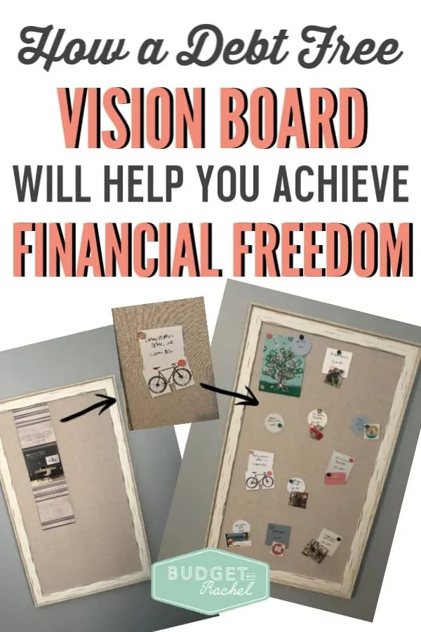 How to use a debt free vision board to achieve financial freedom | debt free journey using a vision board | reasons you should have a vision board if you are paying off debt | how to pay off debt using a vision board | financial freedom journey using a vision board | debt payoff tips | becoming debt free #debtfree #debtpayoff #debt #visionboard