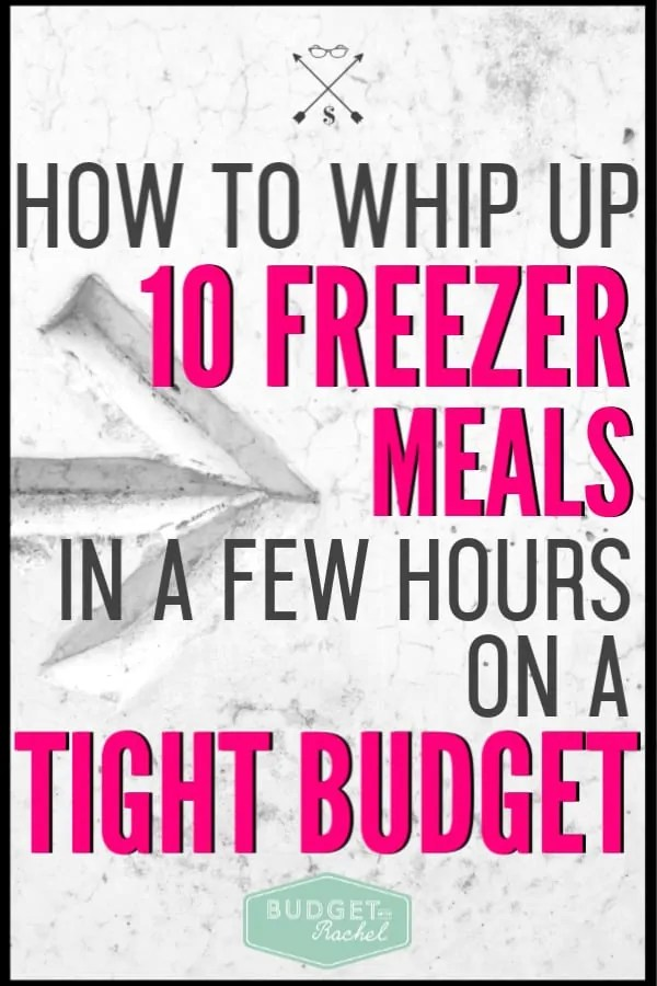 Freezer meals can totally be your saving grace if you struggle to stop eating out and actually stick to your grocery budget. Freezer meals can also feel overwhelming, but with these simple freezer meal steps, you can start making budget meals ahead of time and take control of your food budget. Freezer meals are a major money saver and are one of the best money saving tips I've ever been given. You won't be disappointed! #freezermeals #budget #freeprintables