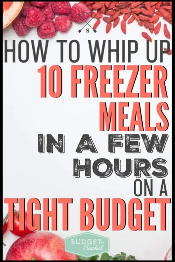 Freezer meals don't have to be time consuming or overwhelming. Follow these simple instructions for creating 10 freezer meals in a short amount of time! This is amazing, especially if you are trying to save money on food. #freezermeals #savemoney #moneysavingtips
