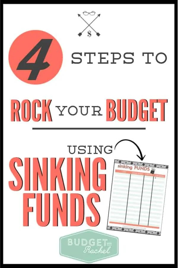 Not sure what sinking funds are? I used to not know either. These little funds can help you conquer your expenses and stick to your budget month after month. Follow these 4 simple steps to start using sinking funds successfully! #budget #budgettips #freeprintaables