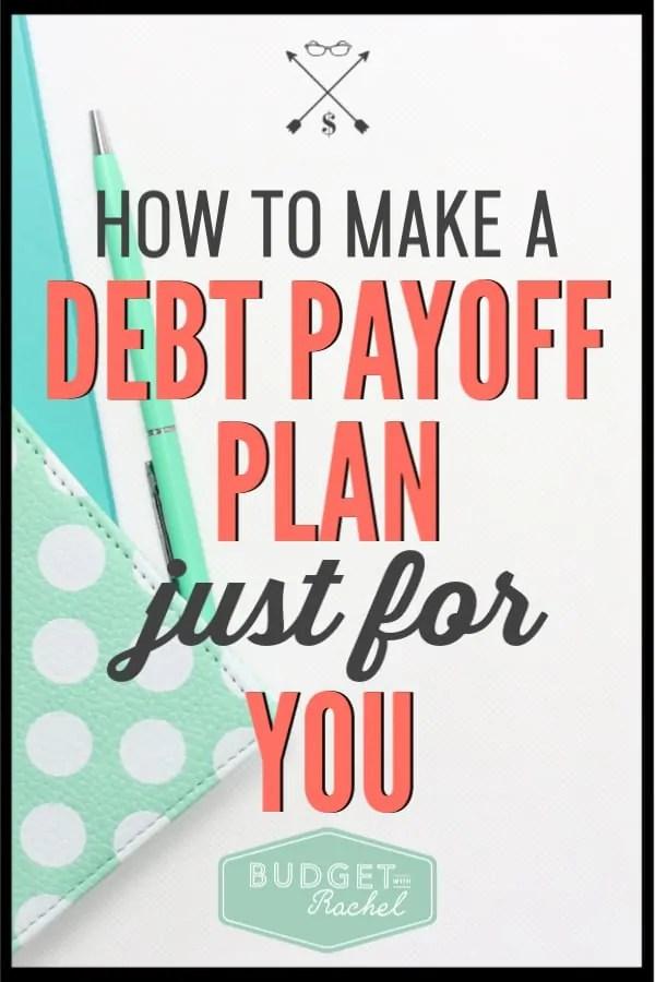 If you are trying to get out of debt, you need a plan specifically for you. Follow these steps to put together a personalized plan for your debt payoff journey. With a debt payoff plan, you will find success! #debtfree #debtpayoff #financialfreedom #freeprintables
