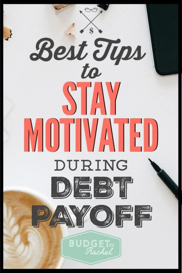 Stop being frustrated with debt payoff and start being inspired! Use these helpful tips to keep you motivated during debt payoff. It can seem impossible, but using these tips will help you overcome any obstacles. #debtfree #debtpayoff #freeprintables #motivation