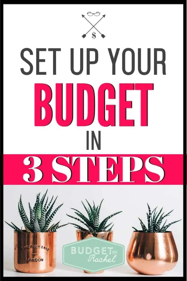 If you have been struggling to set up your budget, stop stressing! This easy budget set up can be done in three easy steps. These are the easiest budgeting tips for anyone to understand. Start budgeting today with these easy steps. #budget #budgettips #freeprintables