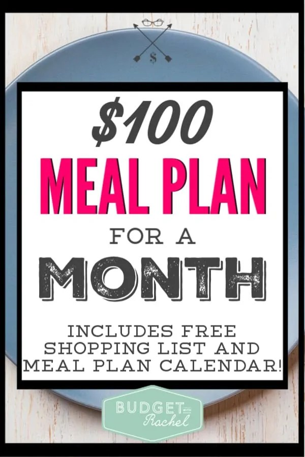 Meal planning can be simple! Using this meal plan will lower your budget and save you the time and stress of planning for dinner for an entire month. Start meal planning today with this easy to use plan! #mealplan #savemoney #budget