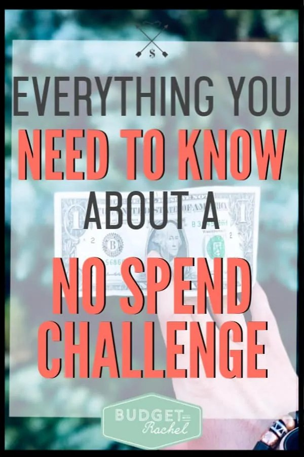 If you have never done a no spend challenge before, this is all the information you need to know! They aren't as challenging as you think, and they will help you save tons of money! Do a no spend challenge and start to save money right now. #savemoney #moneysavingtips #nospendchallenge