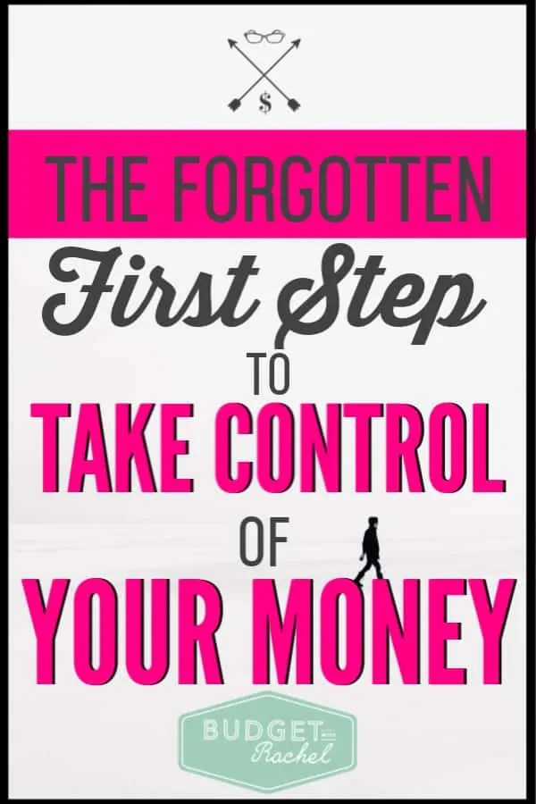 Ready to take control of your personal finances? You must do this first! This is most overlooked part of trying to get your money organized. If you do this first, you will be setting yourself up for success. The budget is important, but this should come first if you want to achieve financial freedom. Stop struggling and start getting your finances organized! #budget #personalfinance #freeprintables