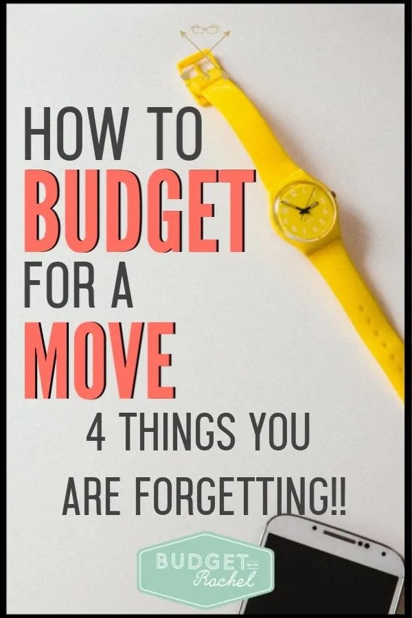If you are about to move, you need to know about these expenses! Moving always costs more than we expect it to. Be prepared by knowing these 4 things that you will need to spend money on. Save your budget by preparing now! #budgettips #budget #moneysavingtips