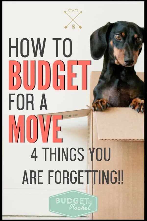 If you are moving, this is exactly how much you should be budgeting for your move. It can be hard to know how much money you will be spending when you move. These are things you should be budgeting for to make sure you are prepared. #budget #budgettips #savemoney