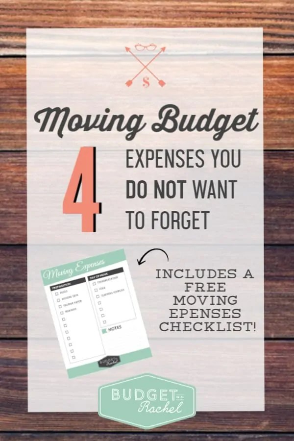 How to prepare your budget for a move | expenses not to forget when you are moving | moving expenses you do not want to forget about | free printables | moving expenses | budget tips | budgeting for beginners | money tips when you are moving #moving #budgettips #budget #freeprintables