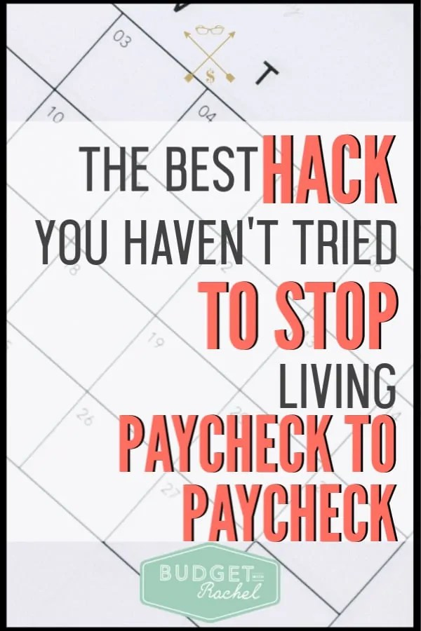 If you are tired of living paycheck to paycheck, this is the secret solution you have been waiting for! End your payday stress with this budget tip. It will be a total game-changer for you! #budget #budgettip #payday #financetip
