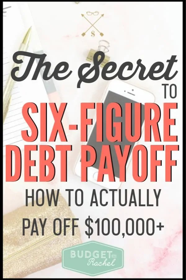 If you are facing six-figure debt, it can be extremely overwhelming. But, there is a way to approach massive debt that will help you be successful. Debt payoff is achievable using this little secret! #debtpayoff #debtfree #financialfreedom