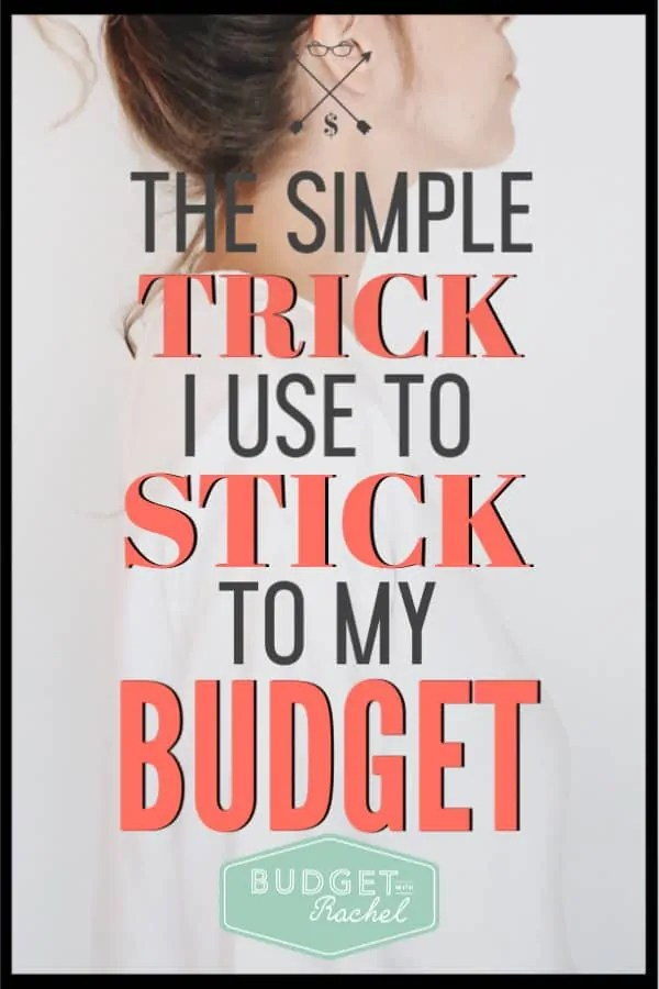 If you have struggled to stick to your budget you need to do this simple budget trick! Learn how to stick to your budget every month with this easy budget tip. Start being successful today! #budget #budgettips #freeprintables