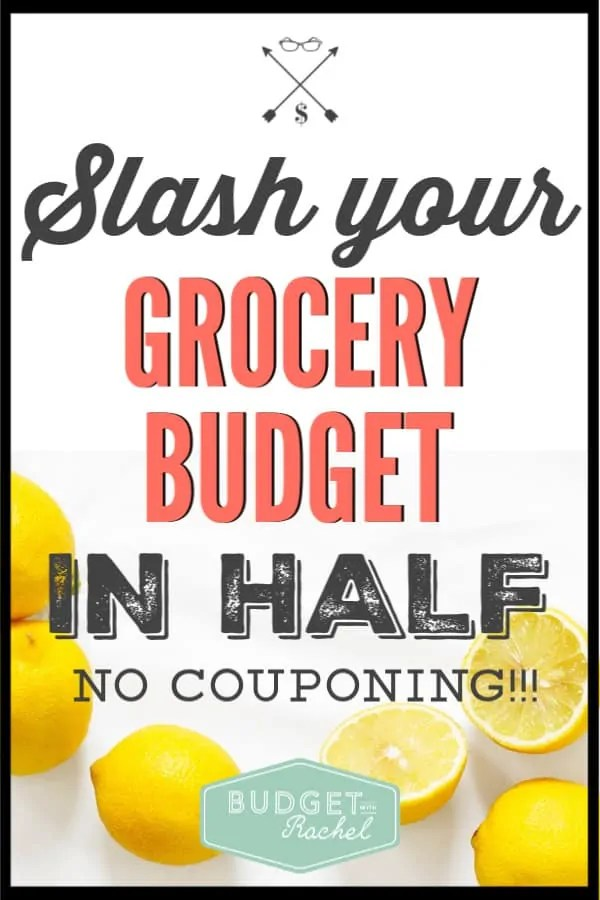 If you are trying to save money on food, these are three easy ways to do that! Use these money saving tips to cut your grocery budget in half. No couponing required! #savemoney #moneysavingtips #budget