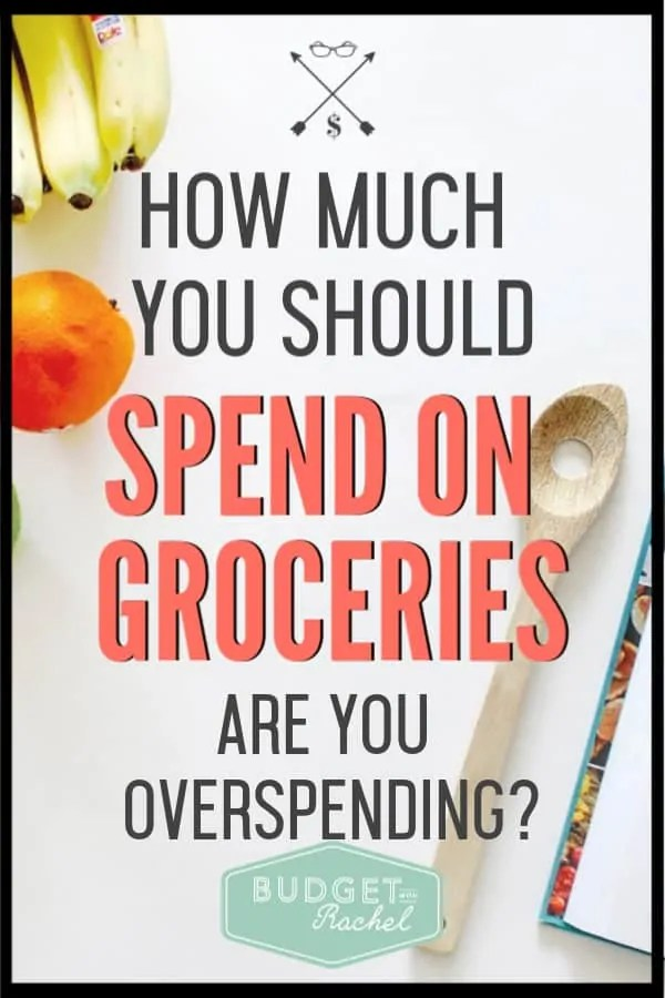 Not sure if you are spending too much on food? Learn how much you should actually be spending on groceries. It might surprise you! #groceries #savemoney #budgettips