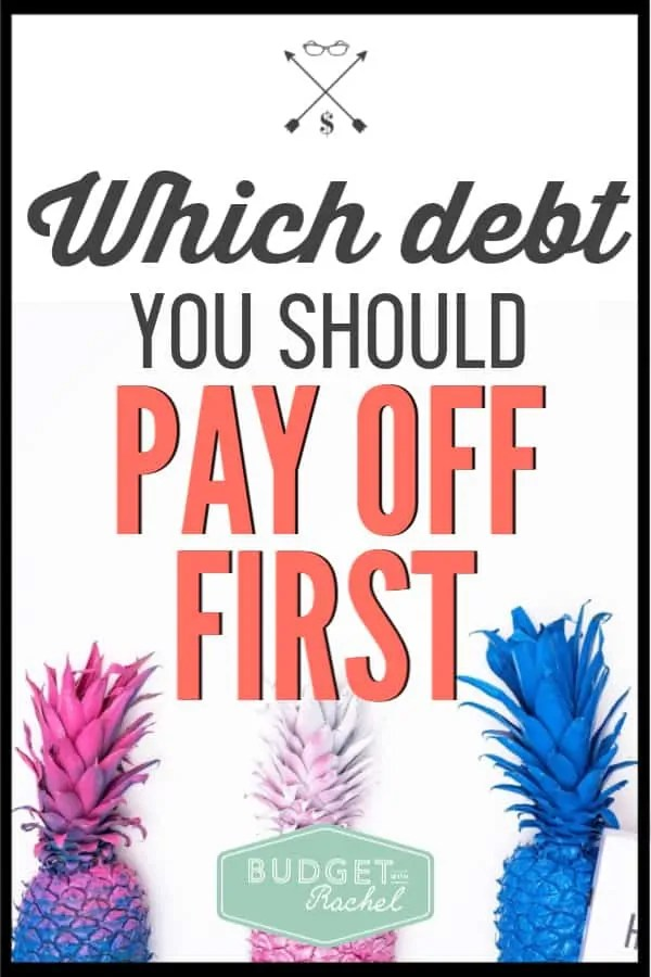 Ready to pay off debt, but aren't sure where to start? This is the debt you should be paying off first! Follow these debt payoff steps to know exactly what order to pay off debt in. Get started now! #debtpayoff #debtfree #financialfreedom